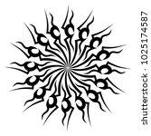 tattoo tribal vector design.   Shutterstock .eps vector #1025174587