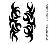 tattoo tribal vector design.... | Shutterstock .eps vector #1025176807