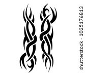 tattoo tribal vector design. | Shutterstock .eps vector #1025176813