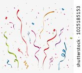 colorful confetti isolated.... | Shutterstock .eps vector #1025185153