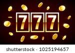 777  triple lucky sevens... | Shutterstock .eps vector #1025194657