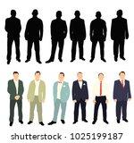 vector  isolated silhouette of... | Shutterstock .eps vector #1025199187