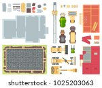 construction elements   set of... | Shutterstock .eps vector #1025203063