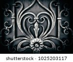 decorative processing of metal... | Shutterstock . vector #1025203117