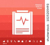 electrocardiogram symbol icon   Shutterstock .eps vector #1025205493