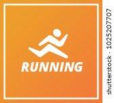 man running icon logo design....   Shutterstock .eps vector #1025207707