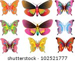 set of different multicolored...   Shutterstock .eps vector #102521777