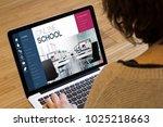 e learning concept  online... | Shutterstock . vector #1025218663