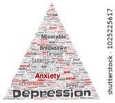conceptual depression or mental ...   Shutterstock . vector #1025225617