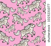 pony seamless pattern   Shutterstock . vector #1025231077