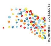 vector confetti background... | Shutterstock .eps vector #1025233753