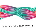 wavy abstraction in pink and... | Shutterstock .eps vector #1025237617