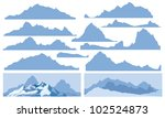 silhouettes of mountain for... | Shutterstock .eps vector #102524873