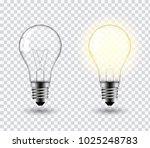 vector image of a light bulb.... | Shutterstock .eps vector #1025248783