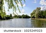lake in verulamium park  st.... | Shutterstock . vector #1025249323