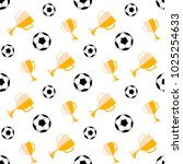 Seamless Pattern With Soccer...