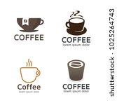 set of coffee logos. vector... | Shutterstock .eps vector #1025264743