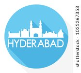 hyderabad india flat icon...   Shutterstock .eps vector #1025267353