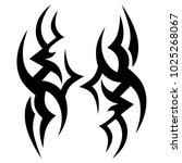 tattoo tribal vector design.... | Shutterstock .eps vector #1025268067