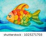 watercolor illustration of... | Shutterstock . vector #1025271703