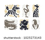 flat cute funny hand drawn... | Shutterstock . vector #1025273143