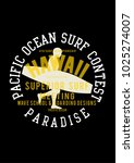 vector surf illustration print | Shutterstock .eps vector #1025274007