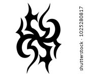 tattoo tribal vector design....   Shutterstock .eps vector #1025280817