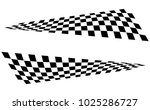 checkered racing flag isolated... | Shutterstock .eps vector #1025286727