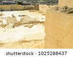 limestone quarry industry at... | Shutterstock . vector #1025288437