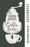 vector banner on coffee theme... | Shutterstock .eps vector #1025289547