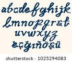 lowercase alphabet in... | Shutterstock .eps vector #1025294083