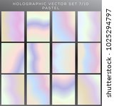 hologram and pastel vector... | Shutterstock .eps vector #1025294797