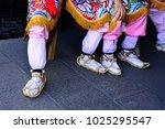 interesting temple activities | Shutterstock . vector #1025295547