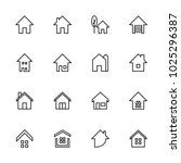 real estate icon set | Shutterstock .eps vector #1025296387