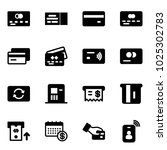 solid vector icon set   credit... | Shutterstock .eps vector #1025302783