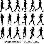 18 high quality female marathon ... | Shutterstock .eps vector #102530357