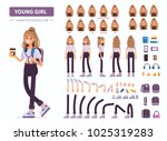 young  girl or teenager... | Shutterstock .eps vector #1025319283