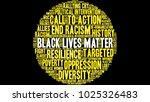 black lives matter word cloud... | Shutterstock .eps vector #1025326483