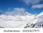 off piste slope and chair lift... | Shutterstock . vector #1025327977