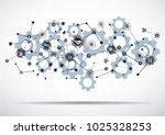 industry 4.0 concept smart... | Shutterstock .eps vector #1025328253