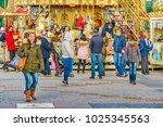 madrid  spain  december   2017  ... | Shutterstock . vector #1025345563