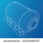 wire frame industrial equipment ... | Shutterstock .eps vector #1025348767