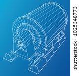 industrial equipment. wire... | Shutterstock .eps vector #1025348773