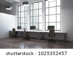 modern coworking office... | Shutterstock . vector #1025352457