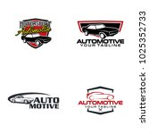 automotive logo design | Shutterstock .eps vector #1025352733