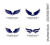 wings logo template vector | Shutterstock .eps vector #1025367847