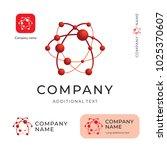 atom logo. modern physics... | Shutterstock .eps vector #1025370607