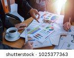 business team corporate... | Shutterstock . vector #1025377363