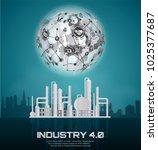 industry 4.0 concept image.... | Shutterstock .eps vector #1025377687