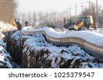 new pipeline of propylene dn... | Shutterstock . vector #1025379547